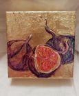 Three Figs<br /><br />acrylic and dutch gold on 5&quot;  square deep edge canvas<br /><br />&pound;35