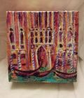 Venetian palace<br /><br />acrylic and dutch gold on 5&quot; square deep edge canvas<br /><br />&pound;35