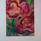 Two Roses <br />A5 appx  portrait<br />£10             SOLD