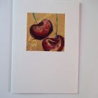 Two cherries<br />A6 appx  portrait<br />&pound;5