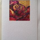 Dark pink rose detail<br />A6 appx portrait<br />&pound;5