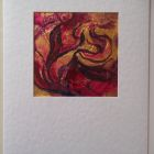 Dafodils in turquoise vase<br />A5 card, painting is acrylic and dutch gold<br />&pound;10
