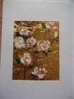 White climbing rose 1<br />A5 card, painting in aperture is acrylic and dutch gold<br />&pound;10