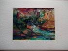 Avon gorge and suspension bridge<br />A5 card, painting is acrylic and dutch gold<br />&pound;10