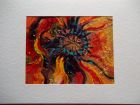 Poppy detail<br />A5 card, painting is acrylic and dutch gold<br />&pound;10