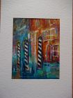 Mooring poles, Venice Grand Canal<br />A5 card, painting is acrylic and dutch gold<br />&pound;10<br />              SOLD