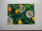 Passion Fruit<br />A5 card , painting is acrylic and dutch gold<br />&pound;10