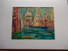Santa Maria di Salute, Venice<br />A5 card, painting is acrylic and dutch gold<br />&pound;10   <br />       SOLD