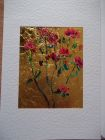 Red climbing rose<br />A5 card, painting is acrylic and dutch gold<br />&pound;10