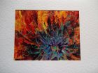 Poppy detail 2<br />A5 card, painting is acrylic and dutch gold<br />&pound;10