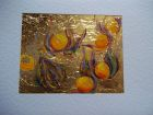 Physalis fruit<br />A5 card, painting is acrylic and dutch gold<br />&pound;10
