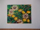 Passion fruit 2<br />A5 card, painting is acrylic and dutch gold<br />&pound;10