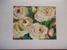 White peonies<br />A5 card, painting is acrylic and dutch gold<br />&pound;10