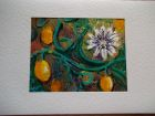 Passion fruit 3<br />A5 card , painting is acrylic and dutch gold<br />&pound;10